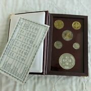 Finland 1995 5 Coin Proof Year Set With Silver Mint Medal - Sealed Pack/coa