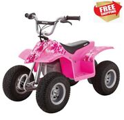 Kids Off Road Atv Mini Quad Pink Age 8+ Up To 8mph Perfect Gift Free Ship