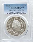 2000 Queen Mother Centenary Andpound5 Five Pound Silver Proof Coin Pcgs Pr70 Dcam
