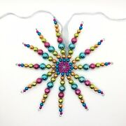 Multicoloured Star Xmas Tree Topper Ornament Bauble Christmas