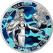 Germania 2020 5 Mark Germania - Camouflage Edition - Air Force- 1 Oz Silver Coin
