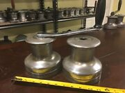 Pair Of Barlow Australia 24 Winches And Crank Handle 2 Speed Set 2