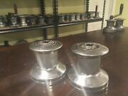 Pair Of Barient Marine 16 Ss 5-3/8x5-1/4 Stainless Steel Single Speed Winch