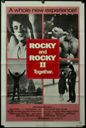 Rocky I And Rocky Ii 1980 Orig 27x41 Movie Poster Sylvester Stallone Talia Shire
