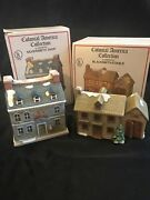Colonial America Collection 2 Illuminated Silversmith Shop + Blacksmith/stable