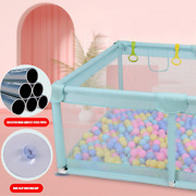 Playpen W/ 50 Ocean Balls Kids Fence Safety Barrier Pit Baby Crawling Playground