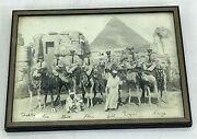 1943 Us Naval Officers Post Visit To Egypt Framed 8x10 Photo
