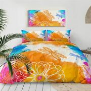 Abstract Art Insect Dragonfly King Queen Twin Quilt Duvet Pillow Cover Bed Set