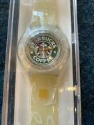 Swatch X Starbucks White Coffee 5th Anniversary Watch Limited Edition 2001 Japan