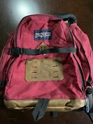 Vintage 90andrsquos Jansport Leather Backpack Day Pack Made In Usa