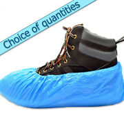 Overshoes - Premium 3.5g - 40cm / 16 - Blue / Embossed / Qty Deals And Discounts