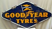 Good Year Tire Vintage Andeacutemail Porcelaine Signe Hexagon Forme Recto-verso Coolecti