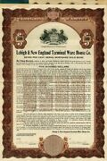 Lehigh And New England Terminal Ware House Co. - 1,000 Or 500 Bond