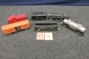 6 Lionel O Scale Train Caboose Sunoco Tanker 1654 2257 Steel Metal Sold As Is