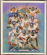 21x25 Ny Giants Superbowl Paper Artwork Print From Original Oil Painting Jiang