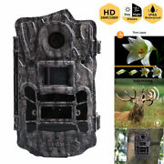 Trail Camera Game Wildlife Hunting Cam 24mp Fhd 1080p Security Pir Night Vision
