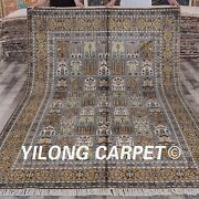 Yilong 6and039x9and039 Handknotted Silk Rug Four Seasons Living Room Indoor Carpet Y298c