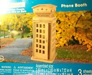 Creatology 3d Wooden Puzzle Phone Booth For All Ages And Easy To Build Free Ship