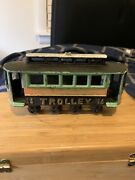 Antique Cast Iron Toy Trolley Car 14 Collectable 1950