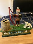 Antique Cast Iron Toys Trick Dog Collectable 1940 Working Ok
