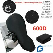 600d Full Outboard Boat Engine Cover Dust Waterproof For 6-225hp Marine Motor