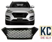 Fits For Hyundai Tucson 2019/2020 Front Bumper Grill Gloss Black Grille