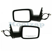 09-12 Ram Truck Rear View Mirror Power Heated W/signal And Puddle Light Pair Set