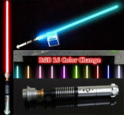Star Wars Lightsaber 16 Color Changing Metal Handle Jedi Dueling Force Toy Gifts