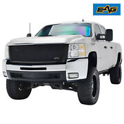 Eag Fit 07-10 Chevy Silveradohd Replacement Grille Black Stainless Steel Mesh