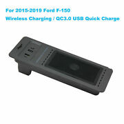 For Ford F150 2015-2019 Wireless Fast Charger System Panel Phone Holder Kit 10w