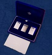 1976 Canada Olympics Silver Stamp Sculptures W/ Stamps And Coa - Free Ship Us