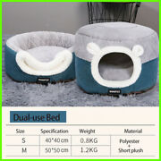Cat Suite Calming Bed Soft Plush Kennel Cat Cushion New 2021