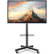 Mobile Tv Stand Cart For 23-60 Inch Lcd Led Flat Screen Or Curved Tvs