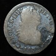 Peru 1802 - 2 Reales Silver Coin Charles Iiii - Lot 5052