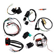 Cdi Wire Harness Stator Solenoid Assembly Wiring Kit Fit For 50-125cc Atv Quads