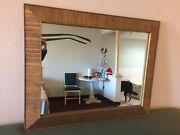Vintage Paul Frankl For Brown And Saltman Combed Wood Mirror Mid-century Modern