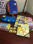 Leap Frog My First Leap Pad Lot Games, Cartridges, And Books With Backpack