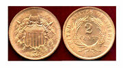 1864 2c- Pure Red Color And Mint Luster -2cents++