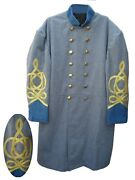 Confederate Frock Coat Officers Double Breastedblue Size 34 -54 New