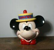 Disney Enesco Mickey Mouse With Yellow Hat Cookie Jar With Original Label