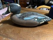 Herter's Inc 1893 Hand Carved Wooden Duck Decoy W/glass Eyes And Moveable Head