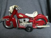 Motorcycle Vintage Toy Harley Davidson Sanchis, Made In Spain