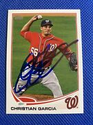 2013 Topps Mini Christian Garcia 278 Auto Signed Autograph Nationals