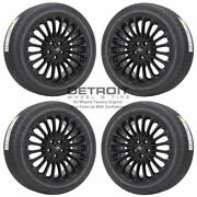 18 Ford Fusion Gloss Black Wheels Rims And Tires Oem Set 4 2013-2019 3961