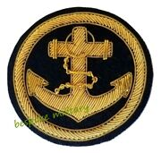 Badge Navy Anchor Badge Anchor In Circle Bullion Wire High Quality Brand New