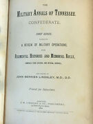 The Military Annals Of Tennessee Confederate First Series By Jb Lindsley 1886