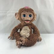 """Furreal Friends Cuddles My Giggly Chimp 18"""" Interactive Monkey 2012 Works Nice."""