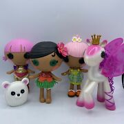 Lalaloopsy Littles Little Sister Dolls Lot Of 3 Dolls 7andrdquo Tall Dressed And Pony