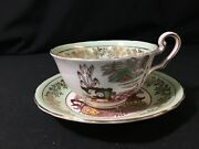 Victoria Bone China Hand Painted Tea Cup And Saucer Pairing