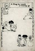 Cassell And Co Ltd La Belle Sauvage Pen And Ink Drawing A Frog He Would A-wooing Go